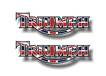 Amazoncom TRIUMPH Motorcycle Vinyl Sticker Decals - Triumph motorcycle custom stickers decals