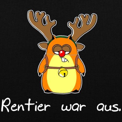 Spreadshirt Weihnachten Lustiger Hamster Rentier War Aus Stoffbeutel Schwarz 2GODZLmHJ