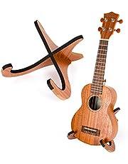 Kmise Ukulele Stand Holder Foldable Ukelele Uke Parts Playwood