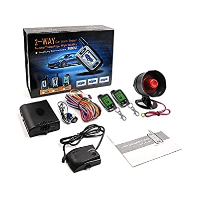 uxcell 2 Way Alarm Security System Vehicle LCD Remote Control Keyless Entry for Auto: Automotive