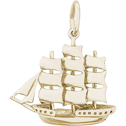 Rembrandt Charms Sailboat Charm, 14K Yellow Gold 14k Yellow Gold Sailboat Charm
