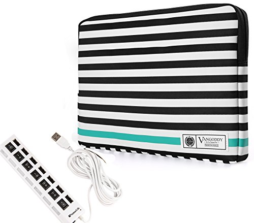 Laptop Sleeve Case for HP Stream Elitebook ProBook Spectre Envy 14 to 15.6 inch + 7 Port USB Hub