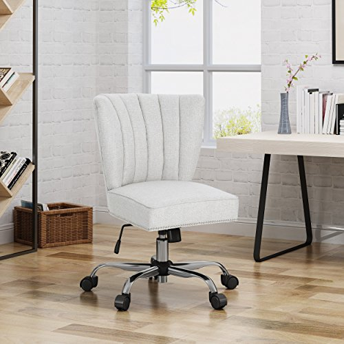 Christopher Knight Home Angela Home Office Chair, Beige Chrome