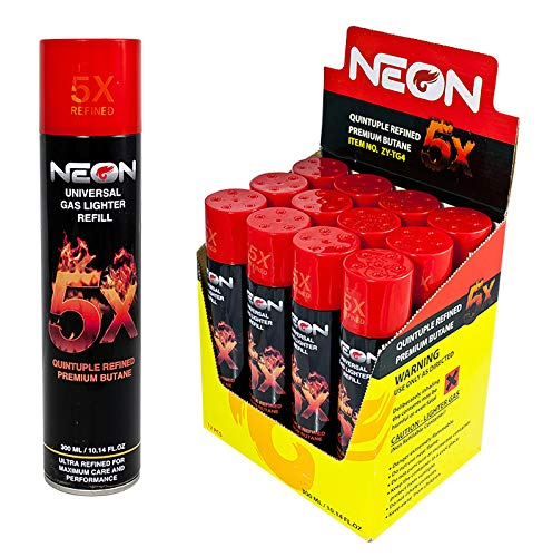 Master Case Neon 5x Butane Near Zero Impurities (96 Cans) by Neon Butane (Image #1)