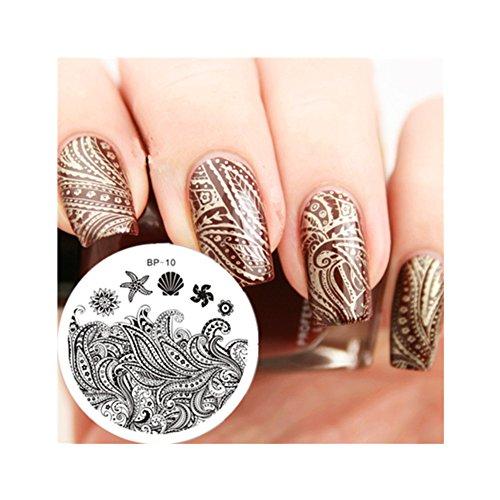 born pretty nail plates nail stamping image plate starfish