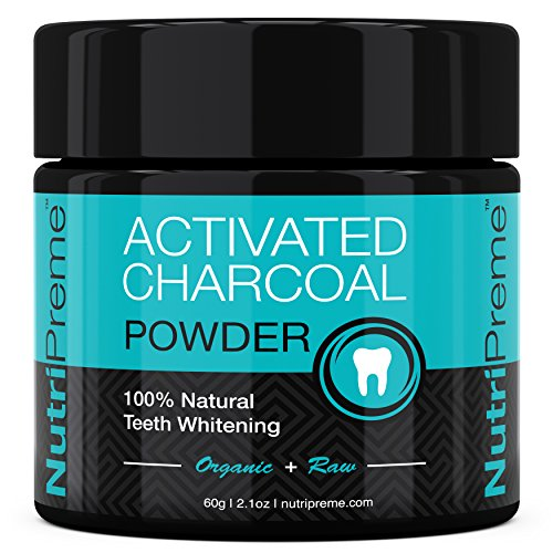Activated Charcoal Natural Teeth Whitening Powder - ★ 100% MONEY BACK GUARANTEE - Whiter Teeth or it's FREE! ★ By NutriPreme