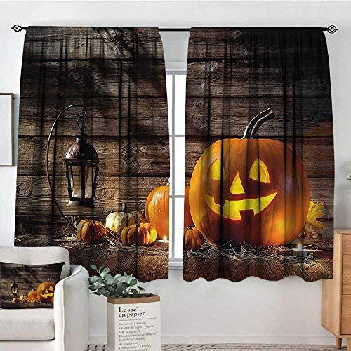Halloween,Nursery/Baby Care Curtains Grinning Face of Pumpkin 42