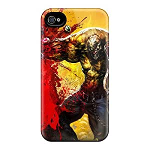 Special Mialisabblake Skin Case Cover For Iphone 4/4s, Popular Punch Splatter Phone Case