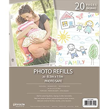Amazoncom Pinnacle Frames And Accents Photo Album Refill Pages