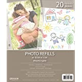 Pinnacle Frames and Accents Photo Album Refill Pages, 8.5-Inch by 11-Inch