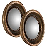 Uttermost 12847 Tropea Rounds Wood Mirror (Set of 2)