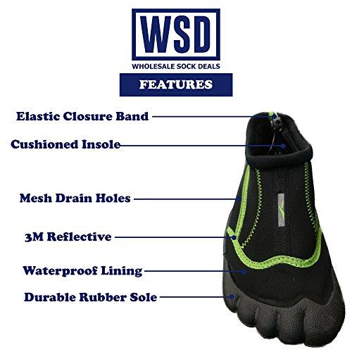 GroßhandelsSockungs-Angebote WSD Mens-wasserdichte Schuhe für Yoga, Übung, Wasser, Strand, Tauchen, Aqua-Socken Marine