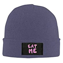 HR Adult's Eat Me Elastic Knitted Beanie Cap Winter Warm Skull Hats