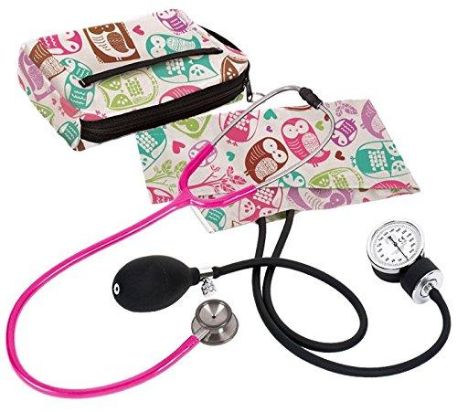 Prestige Medical A126-OCM Aneroid Sphygmomanometer/Clinical 1 Stethoscope Kit, Owl's Cream