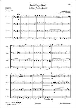 Partition Classique Petit Papa Noël Traditionnel Quatuor De