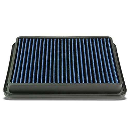 Blue High Performance Cotton Gauze Washable/Reusable OE Style Drop-In Panel Air Filter For Isuzu Impulse/Mazda 929/4Runner/Pickup 2.4L/Previa/Tacoma