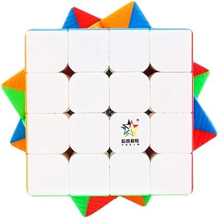 Cubelelo YuXin Little Magic 4M 4x4 Stickerless (Magnetic) Rubik Rubix Rubic Speed Cube