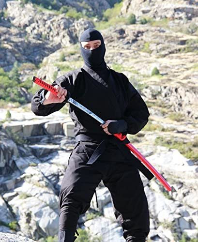 Kage Ninja Gear Real Ninja Uniform 14oz Authentic Ninja Costume + Free Black Belt