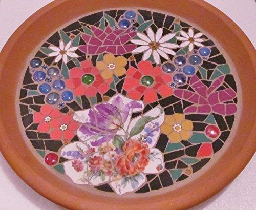 Mosaic birdbath, beautiful floral design to attract the birdies in your garden by mosaics-handmadebyhippo