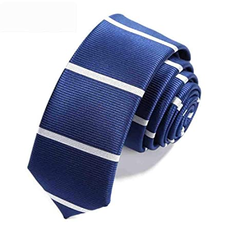 Hjyi Corbata de Vestir para Hombres, Elegante Corbata a Rayas Azul ...