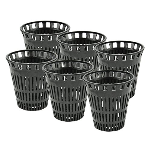 DANCO Shower Drain Hair Catcher Replacement Baskets, Black, 6-Pack (10739P)
