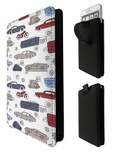1671 - Vintage Cars Motorbike Vespa Sony Xperia X XA E3 E4 E5 M2 M4 Aqua M5/Samsung S3 S4 S5 Neo Grand Prime Fashion Quality Tpu Leather Pull Tab Pouch Case Sleeve Cover