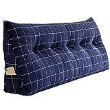 PENGFEI Triangle Cushion Bed Sofa Large Backrest Waist Care Washable, 11 Colors, 6 Size (Color : Blue 1#, Size : 120x20x50CM)