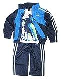 Adidas Boys 3-piece Athletic Windsuit, Dark Blue, 4T
