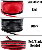 8 AWG (American Wire Gauge) 50 ft Red & Black 2 Conductor Bonded (100 Feet Total) Zip Cable | Also Available in Single Conductor 100' Red or 100' Black