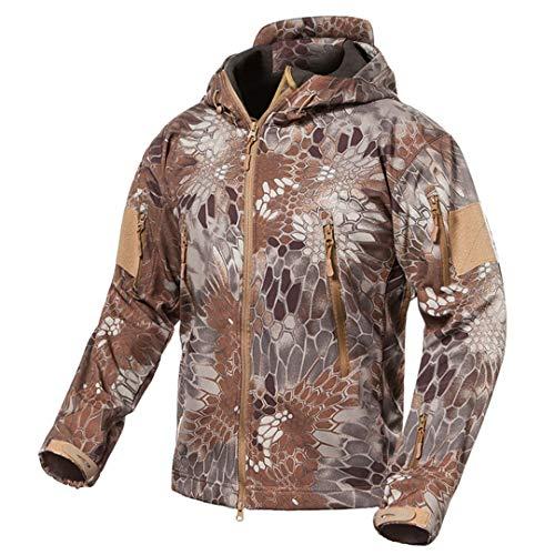 Soft Khaki V5 Snake Requin Winter Shell Vhkhfwd Men's Jacket Peau Uniform Fleece Tactical De q7twxxnIR1