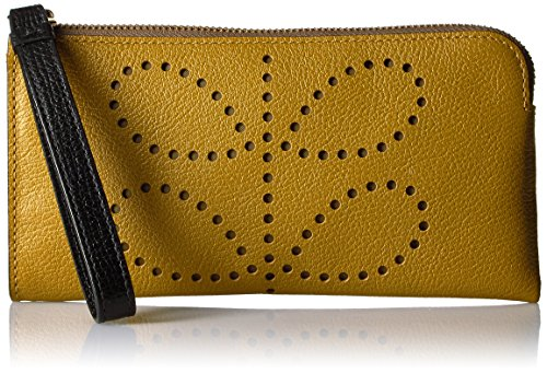 Orla Kiely Punched Stem Flat Zip Wallet..