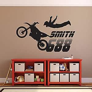 jiuyaomai Motocross Extraíble Pegatinas de Pared para Vivero ...