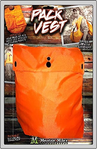 Mountain Mike's Reproductions The Pocket Sherpa Meat Pack Vest, Orange by Mountain Mike's Reproductions