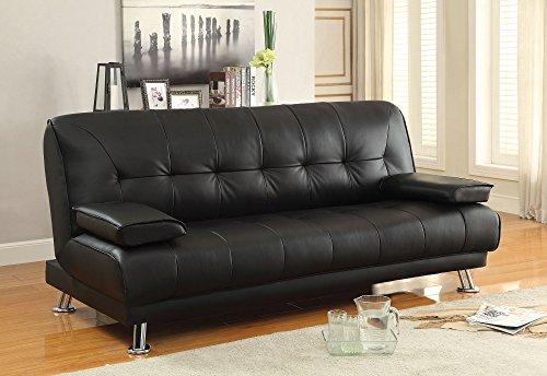 Coaster 300205 Home Furnishings Sofa Bed, Black