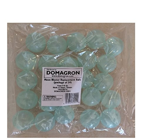 DOMAGRON Moon Blaster Replacement Balls (Package of 24) - Glow in the Dark (Burp Gun)