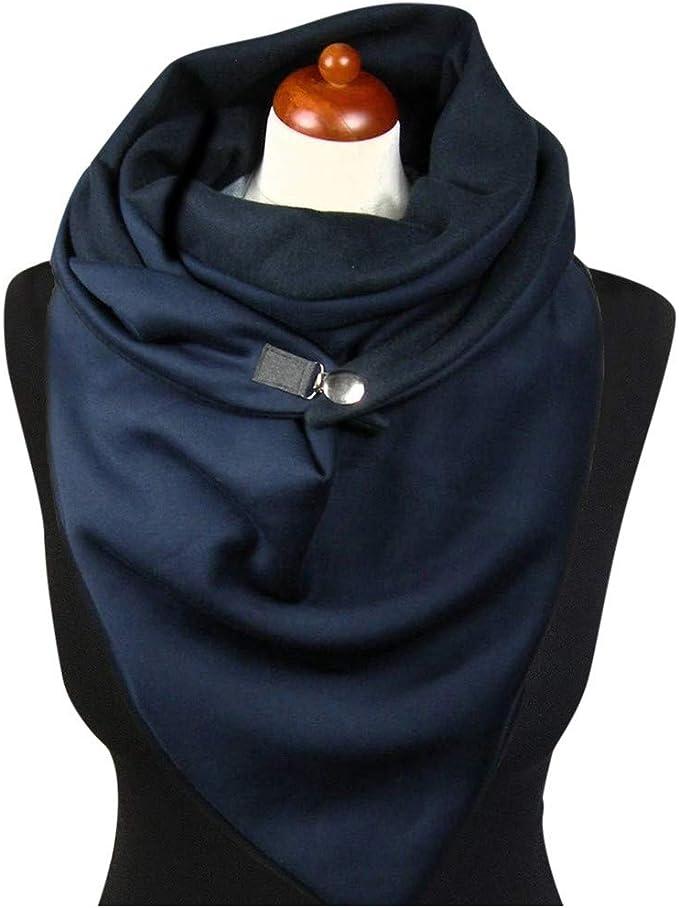 Bascar con stampa a bottone alla moda con motivo floreale e bottoni Sciarpa da uomo e donna