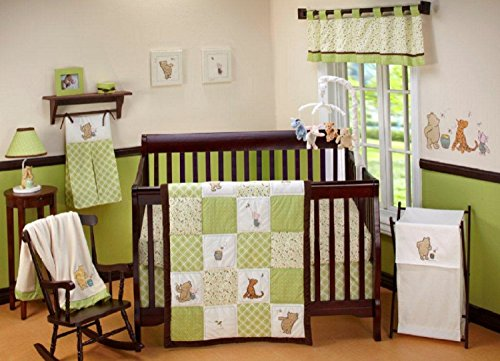 Disney Baby My Friend Pooh 4 Piece Nursery Crib Bedding Set,
