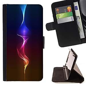 BullDog Case - FOR/Samsung Galaxy A3 / - / Fire Glow /- Monedero de cuero de la PU Llevar cubierta de la caja con el ID Credit Card Slots Flip funda de cuer