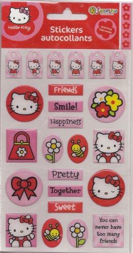 Sandylion Hello Kitty Gems Stickers Packaged
