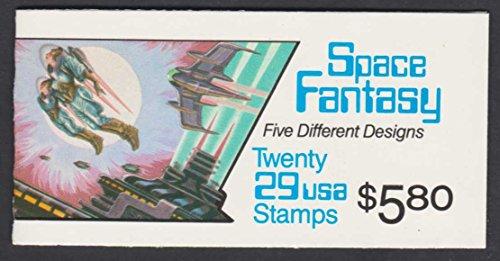 1992 Space Fantasy 20 x 29¢ Booklet US Postage Stamp - Stamp Postage Dog