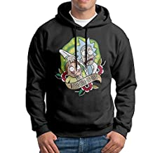 Rick And Morty Men's Fleece Pullover Hoodie Jackets Black