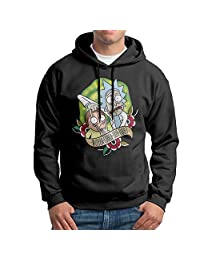 Rick And Morty Men's Fleece Pullover Hoodie Jackets Black