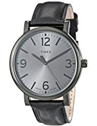 Timex Unisex T2P528AB Originals Black Watch with Black Leather Band