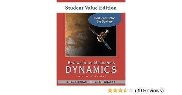Amazon engineering mechanics dynamics student value edition amazon engineering mechanics dynamics student value edition 9780470499788 j l meriam l g kraige books fandeluxe Image collections