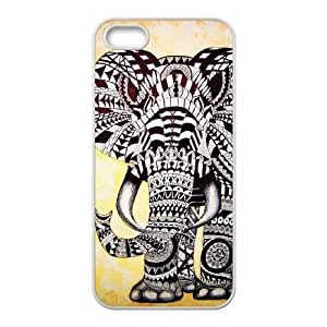 Alel iPhone 5 5s Cell Phone Case White Elephant Pattern
