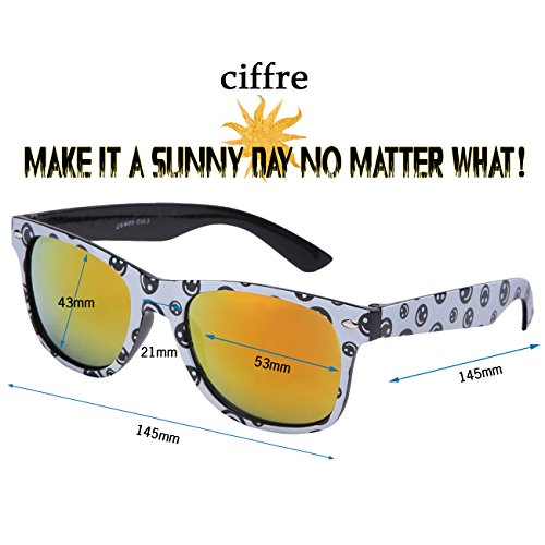 Smiley Ciffre mujer Gafas para sol Verspiegelt de 1BwfTqU