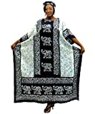 Elephant-Line-Caftan-Kaftan-with-Matching-Headwrap-Available-in-Several-Colors