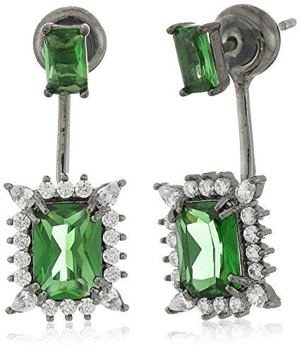 Noir Jewelry Green Alexandra Earring Jackets by nOir Jewelry