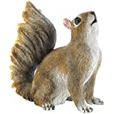 Squirrels BUSHY TAIL SQUIRREL FIGURINE Cute Animal Statue Whimsical Indoor Outdoor Gift Patio Room Deck