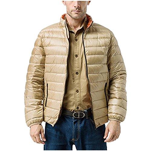 Leggero Inverno Beige Caldo Degli Puffer Uomini Cappotto Packable Partiss Piumino Di ppwZTnYx